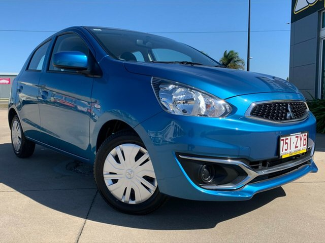 Used Mitsubishi Mirage LA MY20 ES, 2019 Mitsubishi Mirage LA MY20 ES Blue 1 Speed Constant Variable Hatchback