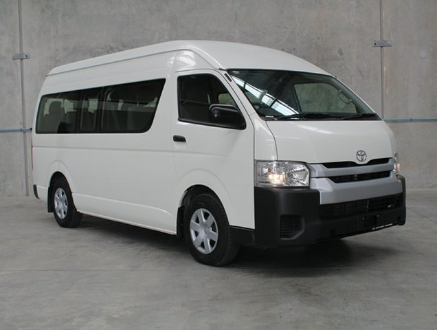 Used Toyota HiAce KDH223R MY14 Commuter High Roof Super LWB, 2014 Toyota HiAce KDH223R MY14 Commuter High Roof Super LWB White 4 speed Automatic Bus