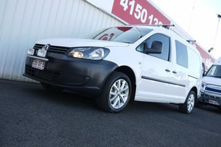 2014 Volkswagen Caddy 2KN MY15 TDI250 BlueMOTION Crewvan Maxi DSG White 7 Speed