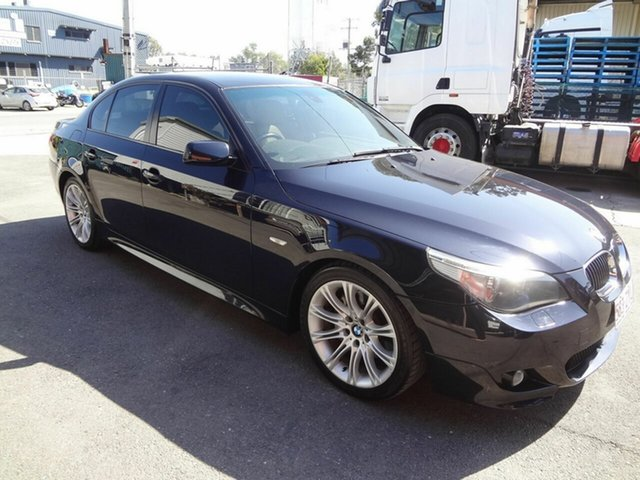 Used BMW 525i E60 MY06 Upgrade Sport Coopers Plains, 2005 BMW 525i E60 MY06 Upgrade Sport Blue 6 Speed Auto Steptronic Sedan