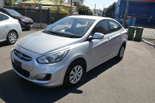 2015 Hyundai Accent RB2 MY15 Active Silver 4 Speed Automatic Sedan.