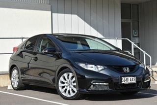 2013 Honda Civic 9th Gen MY13 VTi-L Black 5 Speed Sports Automatic Hatchback.