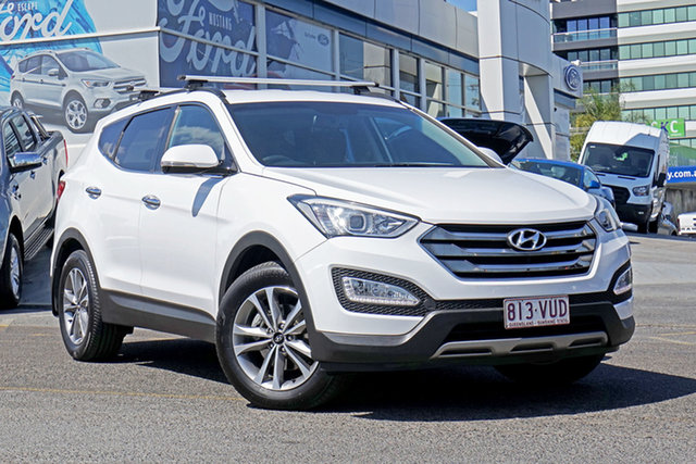 Used Hyundai Santa Fe DM2 MY15 Elite, 2015 Hyundai Santa Fe DM2 MY15 Elite White 6 Speed Sports Automatic Wagon