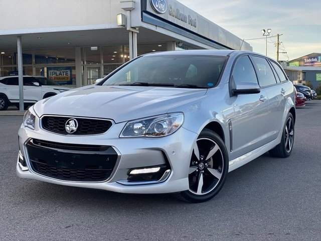 Used Holden Commodore SV6 Goulburn, 2017 Holden Commodore SV6 Silver Sports Automatic Wagon
