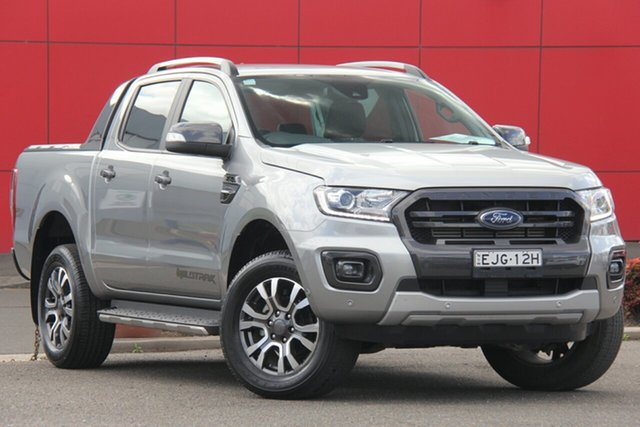 Used Ford Ranger PX MkIII 2020.25MY Wildtrak, 2019 Ford Ranger PX MkIII 2020.25MY Wildtrak Silver 10 Speed Sports Automatic Double Cab Pick Up