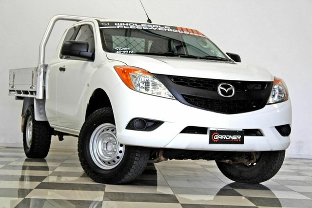 Used Mazda BT-50  XT Hi-Rider (4x2), 2013 Mazda BT-50 XT Hi-Rider (4x2) White 6 Speed Manual Freestyle Cab Chassis