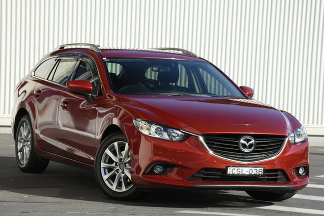Used Mazda 6 GJ1021 MY14 Touring SKYACTIV-Drive, 2014 Mazda 6 GJ1021 MY14 Touring SKYACTIV-Drive Red 6 Speed Sports Automatic Wagon