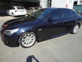 2005 BMW 525i E60 MY06 Upgrade Sport Blue 6 Speed Auto Steptronic Sedan.