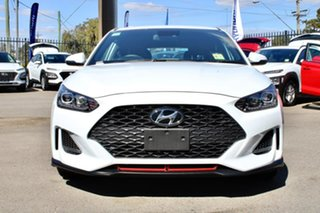 2019 Hyundai Veloster JS MY20 Turbo Chalk White 7 Speed Auto Dual Clutch Coupe.