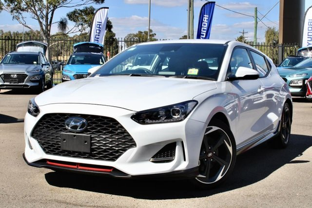 New Hyundai Veloster JS MY20 Turbo, 2019 Hyundai Veloster JS MY20 Turbo Chalk White 7 Speed Auto Dual Clutch Coupe