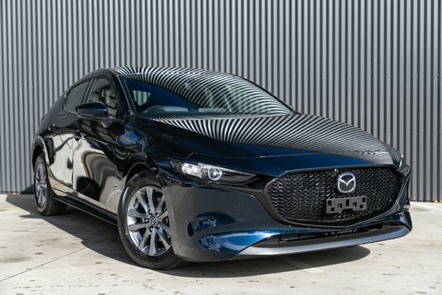 New Mazda 3 BP2H7A G20 SKYACTIV-Drive Pure, 2020 Mazda 3 BP2H7A G20 SKYACTIV-Drive Pure Deep Crystal Blue 6 Speed Sports Automatic Hatchback