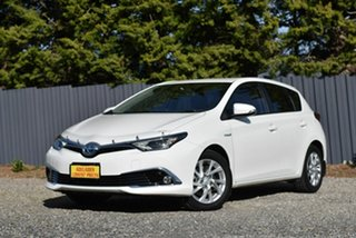 2017 Toyota Corolla ZWE186R Hybrid E-CVT White 1 Speed Constant Variable Hatchback Hybrid
