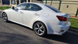 2010 Lexus IS GSE20R MY11 IS250 F Sport Pearl White 6 Speed Sports Automatic Sedan.