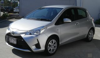 2017 Toyota Yaris NCP130R Ascent Silver 5 Speed Manual Hatchback.