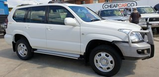 2003 Toyota Landcruiser Prado KZJ120R GX White 5 Speed Manual Wagon.