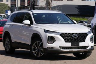 2020 Hyundai Santa Fe TM.2 MY20 Active X White Cream 8 Speed Sports Automatic Wagon.