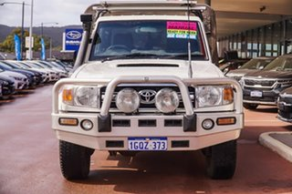 2009 Toyota Landcruiser VDJ79R GXL White 5 Speed Manual Cab Chassis