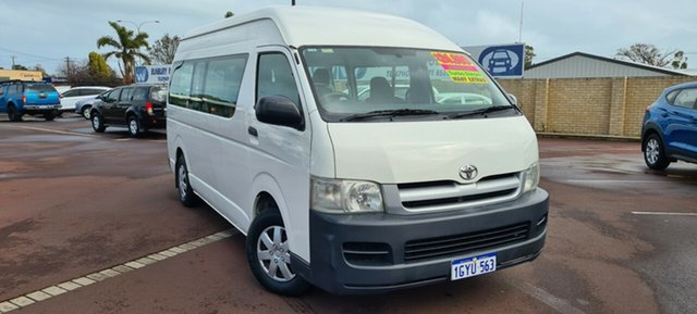 Used Toyota HiAce KDH222R Commuter High Roof Super LWB East Bunbury, 2006 Toyota HiAce KDH222R Commuter High Roof Super LWB White 4 Speed Automatic Bus