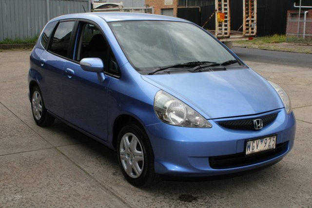 Used Honda Jazz MY06 GLi West Footscray, 2007 Honda Jazz MY06 GLi Blue 5 Speed Manual Hatchback