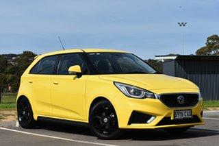 2019 MG MG3 SZP1 MY18 Core Yellow 4 Speed Automatic Hatchback.