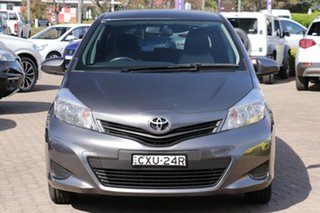 2014 Toyota Yaris NCP131R YRS Grey 4 Speed Automatic Hatchback