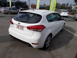 2015 Kia Cerato White 4 Speed Automatic Hatchback.