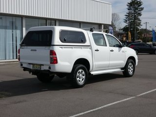 2010 Toyota Hilux KUN26R MY10 SR White 5 Speed Manual Utility