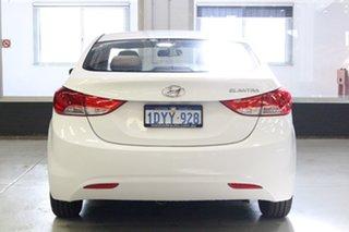 2012 Hyundai Elantra MD Active White 6 Speed Automatic Sedan