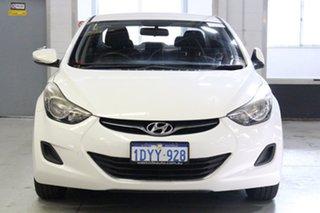 2012 Hyundai Elantra MD Active White 6 Speed Automatic Sedan.