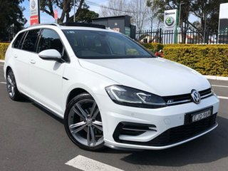 2017 Volkswagen Golf 7.5 MY18 110TSI DSG Highline White 7 Speed Sports Automatic Dual Clutch Wagon.