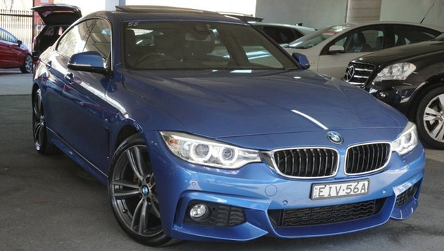 Used BMW 4 Series F36 428i Gran Coupe Sport Line, 2015 BMW 4 Series F36 428i Gran Coupe Sport Line Blue 8 Speed Sports Automatic Hatchback