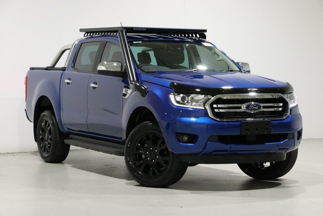 Used Ford Ranger PX MkIII MY19.75 XLT 2.0 (4x4), 2019 Ford Ranger PX MkIII MY19.75 XLT 2.0 (4x4) Blue 10 Speed Automatic Double Cab Pick Up