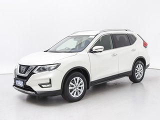 2017 Nissan X-Trail T32 ST-L (4x4) White Continuous Variable Wagon.