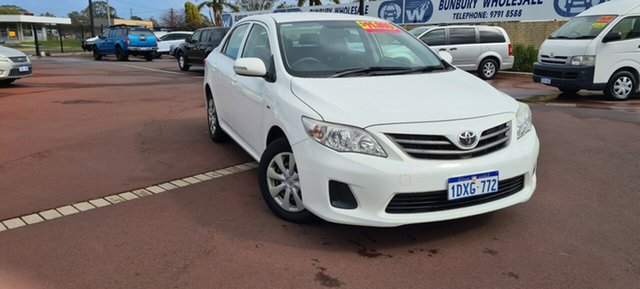 Used Toyota Corolla ZRE152R MY11 Ascent East Bunbury, 2012 Toyota Corolla ZRE152R MY11 Ascent White 4 Speed Automatic Sedan