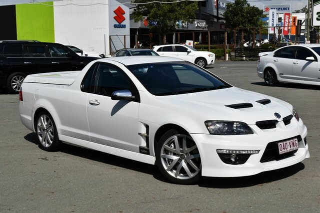 Used Holden Special Vehicles Maloo E2 Series GXP, 2010 Holden Special Vehicles Maloo E2 Series GXP White 6 Speed Manual Utility
