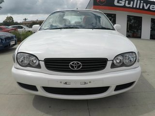 2000 Toyota Corolla AE112R Ascent Seca White 4 Speed Auto Active Select Liftback.