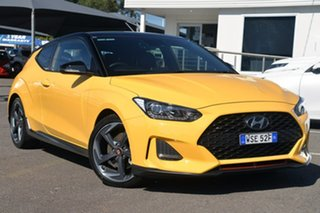2019 Hyundai Veloster JS MY20 Turbo Coupe D-CT Premium Yellow 7 Speed Sports Automatic Dual Clutch.