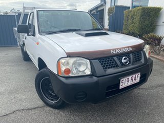 2010 Nissan Navara D22 MY2009 DX 4x2 White 5 Speed Manual Cab Chassis.