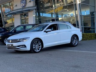 2020 Volkswagen Passat 3C (B8) MY20 140TSI DSG Business White 7 Speed Sports Automatic Dual Clutch.