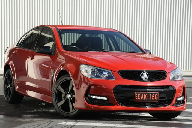 Used Holden Commodore VF II MY16 SV6 Black, 2016 Holden Commodore VF II MY16 SV6 Black Red 6 Speed Sports Automatic Sedan