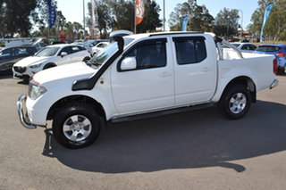 2011 Nissan Navara D40 ST White 6 Speed Manual Utility.