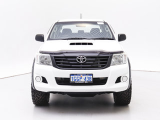 2014 Toyota Hilux KUN26R MY14 SR (4x4) White 5 Speed Automatic Dual Cab Pick-up.