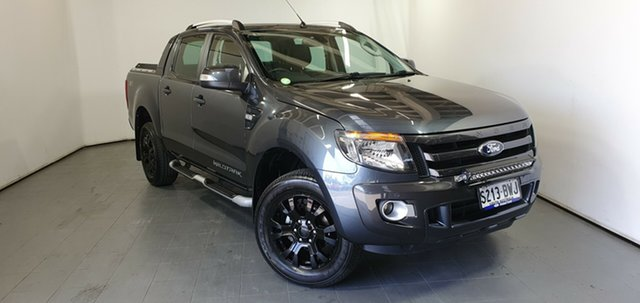 Used Ford Ranger PX Wildtrak Double Cab, 2014 Ford Ranger PX Wildtrak Double Cab Grey 6 Speed Sports Automatic Utility