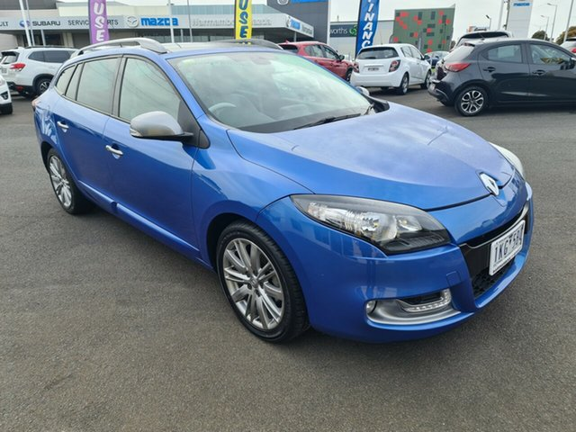 Used Renault Megane III K95 Phase 2 GT-Line Sportwagon EDC Warrnambool East, 2014 Renault Megane III K95 Phase 2 GT-Line Sportwagon EDC Blue 6 Speed Sports Automatic Dual Clutch