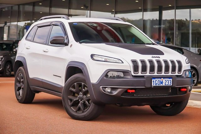 Used Jeep Cherokee KL MY18 Trailhawk, 2018 Jeep Cherokee KL MY18 Trailhawk White 9 Speed Sports Automatic Wagon