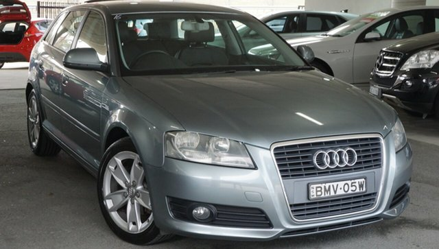 Used Audi A3 8P MY09 Attraction S Tronic, 2009 Audi A3 8P MY09 Attraction S Tronic Grey 7 Speed Sports Automatic Dual Clutch Hatchback