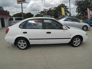 2000 Toyota Corolla AE112R Ascent Seca White 4 Speed Auto Active Select Liftback