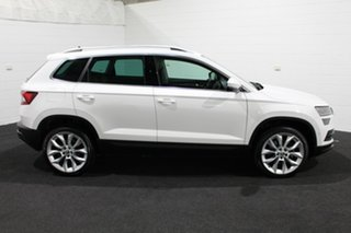 2018 Skoda Karoq NU MY18 110TSI DSG FWD White 7 Speed Sports Automatic Dual Clutch Wagon.