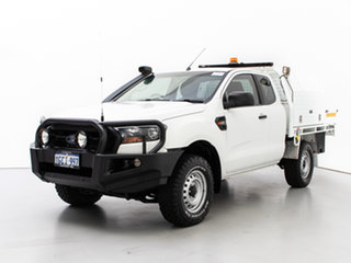 2016 Ford Ranger PX MkII XL 3.2 (4x4) White 6 Speed Manual Super Cab Chassis.