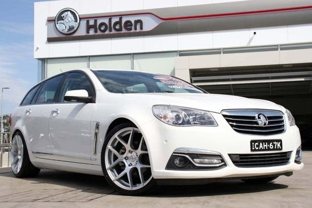 Used Holden Calais VF II MY16 V Sportwagon, 2016 Holden Calais VF II MY16 V Sportwagon White 6 Speed Sports Automatic Wagon